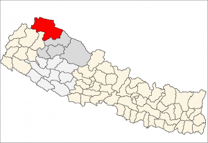Map courtesy of Wikipedia, Humla District
